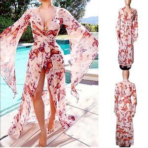 Dresses & Skirts - Beautiful Butterfly Kimono SwimGown Robe Dress Top